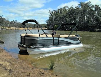 The ability to sidle up to a bank and enjoy what a waterway has to offer is a huge advantage of this style of boat.