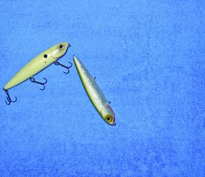 With a little slack in the line the lure is jerked and it will turn and glide across the 'axis of retrieve'