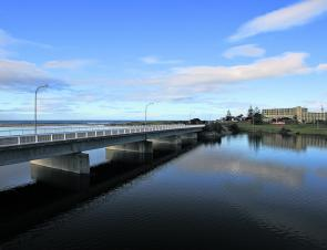The Scamander River Road bridge looking seaward.