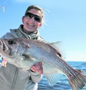 October is a top month for quality pearlies like this one caught on a recent RU4REEL charter.