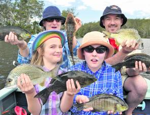 The Spencer family from Canberra regularly enjoy days on the coast catching a variety of fish.