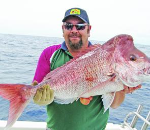 This thumping big knobby snapper came from North Reef on a charter with Fishing Offshore Noosa.