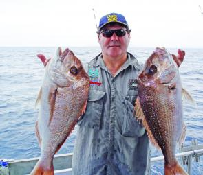 Chardons Reef has been delivering an unseasonal burst of quality snapper such as these fine fish.