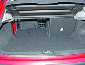 Load space in the boot is reasonable, and by lowering a seat down creates a lot more space on a nice flat floor area.