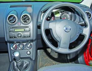 The Dualis' steering wheel operated cruise control system plus instruments are on a neat binnacle ahead of the driver, which makes driving a pleasure.