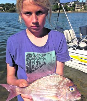 This great snapper was taken from the calm waters of Pittwater.
