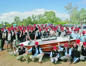 Eighty competitors vied for the chance to win one of three Blue Fin and MotorGuide boat Packages.