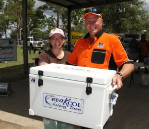Julz Bolam was the lucky winner of the Eva Kool Ice Box Encouragement Award.