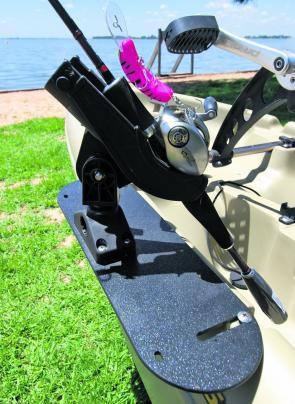 The Mariner 12.5 Propel Angler comes with Scotty accessories as standard fare. This is a must-have accessory for an angler as it stores your rod within easy reach and also allows you to troll easily.