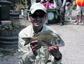 Chesney Fung with his Boss Hog Big Bream of 1.07kg.