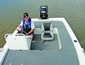 The Jackal's layout combines practicality and plenty of fishing room in one package.