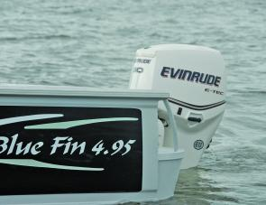 The 90hp E-Tec did a great job of providing power and economy on the Blue Fin 495 Thundercat.