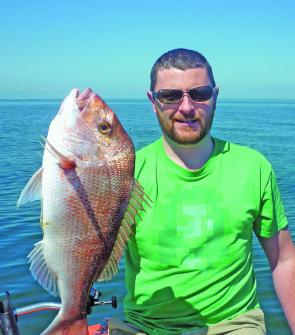 Casting baitfish profile soft plastics on the inshore reefs has been productive for James Laverty.