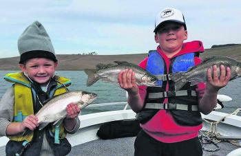 Max and Zach Stevens with some of their catch from Bullen Merri.