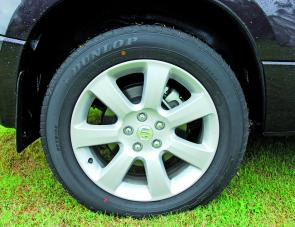"The reviewed Prestige's optional 18"" wheels offer even more ground clearance."