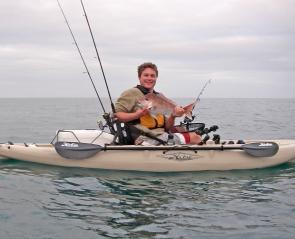 Kayaks provide unique stealth to successfully target snapper when trolling.
