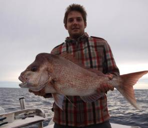 The 29 fathom line, 50m and 60m south Point Lookout, Shallow Tempest and the close in rocks around Boat Rock are all consistent big snapper producing areas.