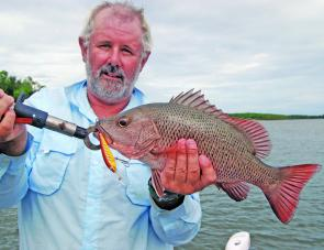 Tony Baylis with decent jack taken on a Tilsan Barra.