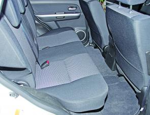 The Grand Vitara's rear seats are well padded.