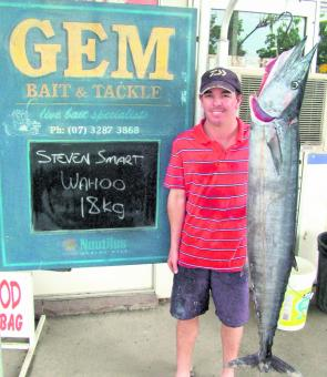 This wahoo was caught fishing from a 4.5m tinnie between the 24's and the 'Pin bar.