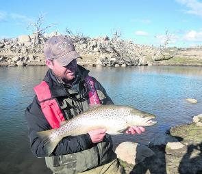 The author was lucky enough to land this 10lb 72cm brown on a recent trip to Eucumbene. This fish was hooked using the slow, twitch and pause retrieve.