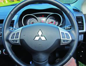 Audio and cruise control switches on the steering wheel ensure the eyes don't wander from the road.