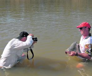 During the warmer months many anglers prefer to take their photos in the water.