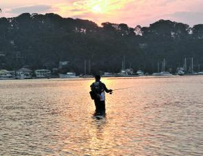 Topwatering the flats at sunset is a great option in summer.