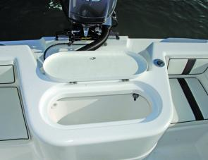 A large fully plumbed well nestling between aft quarter seats would cater for a lot of live baits.