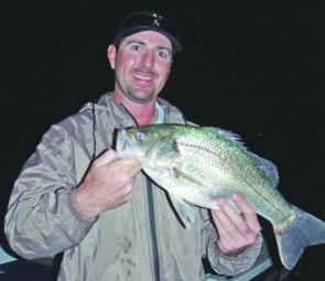 Chris Galligan with a solid Moogerah Bass.