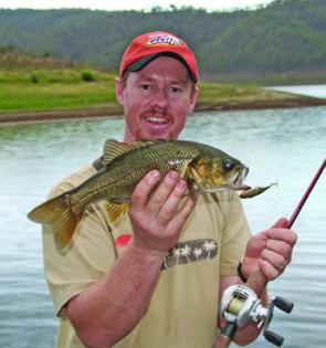 Reaction lures like Jackalls fished to the lake's weeded edges will produce bass and the occasional golden perch.
