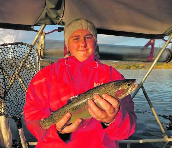 Jasmine Taylor caught this big rainbow recently.