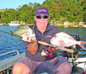 The deeper waters of Port Hacking will also produce good-sized snapper along with the bream.
