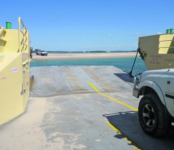 The beach at the Inskip Point car ferry is worth a fish just after the ferry departs.