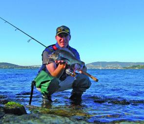 All you need is a light pair of waders and a variety of lures and bream like this can be yours.