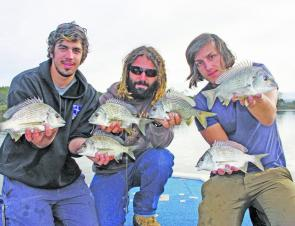 A bunch of typical South Coast yellowfin bream, taken on shallow hardbodies and all released.