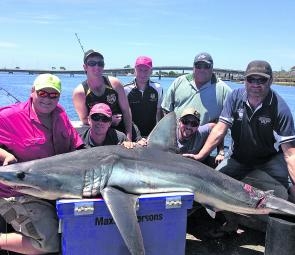 December and January are the months to be on the hunt for shark in Bass Strait.