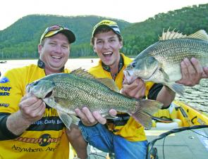 Tim Morgan and Carl Jocumsen took out session 2 and overall Champions with these great bass.