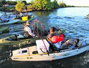 The starts each morning were frantic with anglers keen to get to their spots first.