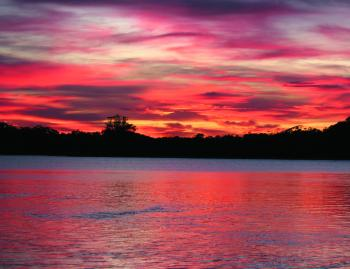 The sunset at Lakes Entrance is an experience not to be forgotten.