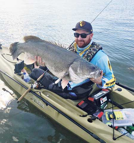 Matt 'Spider' Rogers took out the kayak division of the classic. No wonder when you get a fish like this 1.02m cod.