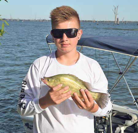 Golden perch numbers were down this year, but any caught were much appreciated.