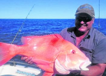 Gary Taylor fought and caught this red emperor at the reef on a recent trip with Renegade.