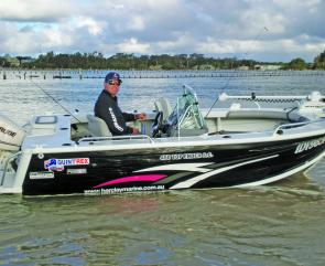 Former national cricket captain and Channel Nine commentator Mark Taylor is happy with his selection of a Quintrex Top Ender 450TE with E-Tec 60hp and Lowrance electronics.