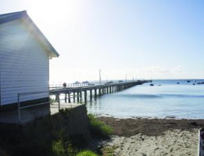 The Flinders Pier is a great safe location for a day's fishing.