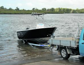 A well designed Dunbier trailer made launching and retrieving the Procraft a one person event.
