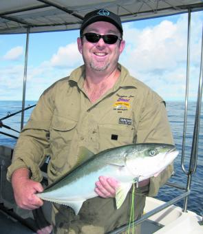 Kingfish swarm all over the harder reefs and anglers fishing offshore from Jacobs Well can get amongst them quite easily.