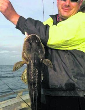 This hungry flathead took a white coloured squid jig!
