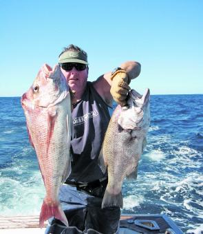 Offshore it's snapper and pearlies. Float lining, plastics and rigged baits will all be good this month.