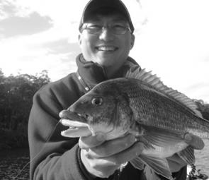 Sing Ling caught this horse of a bream at Mallacoota.